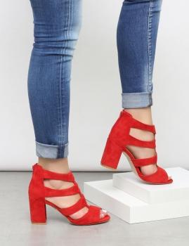 Sandalias Queen - Rojo