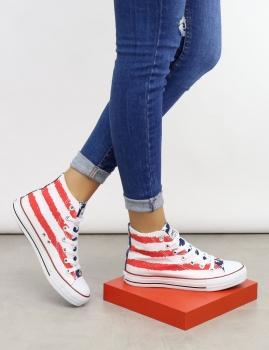 Zapatillas FLAG - USA Blanco