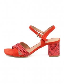Sandalias Lista - Rojo