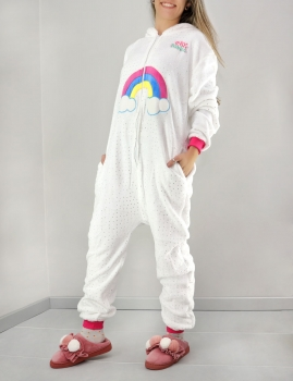 Pijama Uni - Blanco