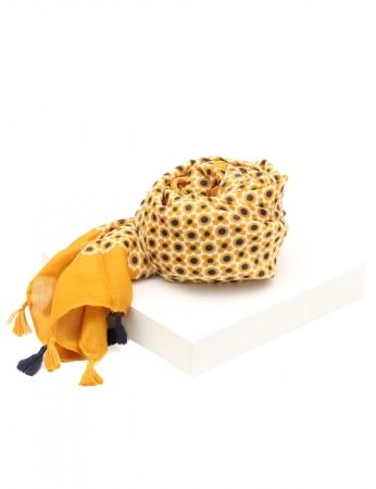 Bufanda Pompom - Amarillo