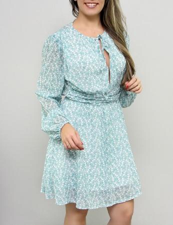 Vestido Primavera - Azul
