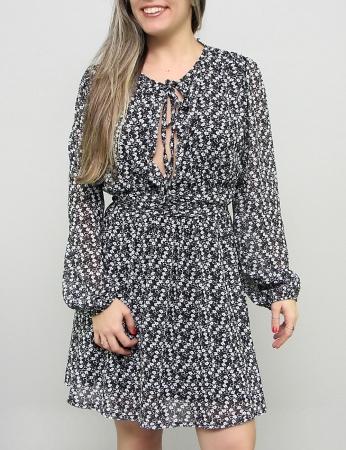 Vestido Primavera - Negro