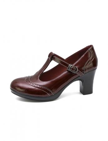 Zapatos Esfer - Bordo