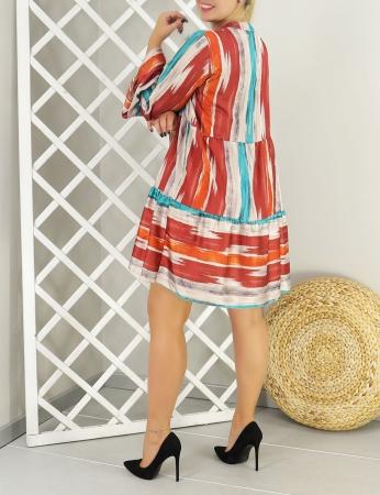 Vestido Malu - Rojo