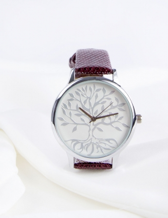 Reloj Tree - Bordo