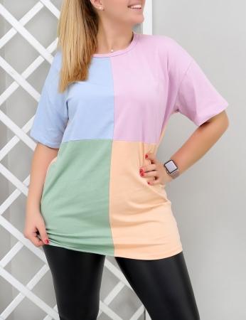 T-shirt Cubic - Naranja
