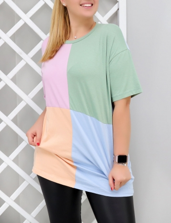 T-shirt Cubic - Azul